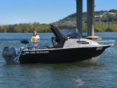 Stessl 580 Seahawk PLATE ALLOY Cuddy Cabin Powered with 130HP Yamaha