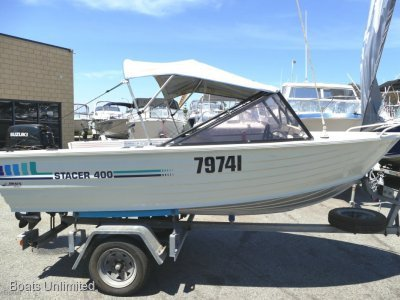 Stacer 400 Runabout Stacer 400 Runabout Powered by a low hours Suzuki- Click for more info...