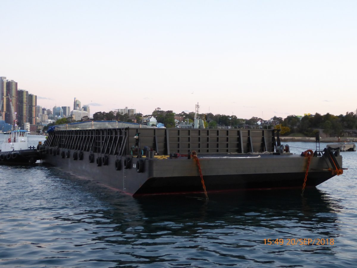 Australia Marine Services AMS Tugs and Barges Deck Cargo Ballast Tank Barge