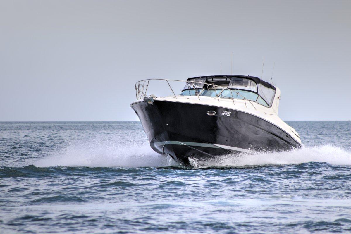 Riviera M370 Sports Cruiser Bonus extra of a 3m Zodiac tender with 5hp Suzuki