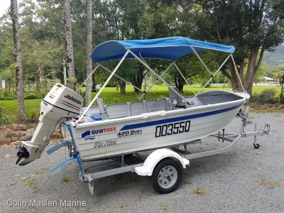 Quintrex 420 Dory Wide Body Rex Hunt edition