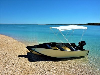 Porta-bote 10 Foot with 5HP Tohatsu 4 stroke outboard engine