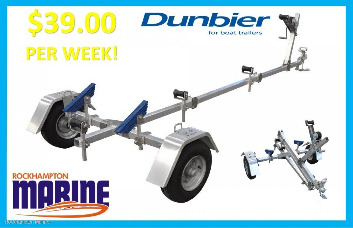 DUNBIER ALLOY FOLDAWAY TRAILER TO SUIT UP TO 3.9M BOATS BRAND NEW!!