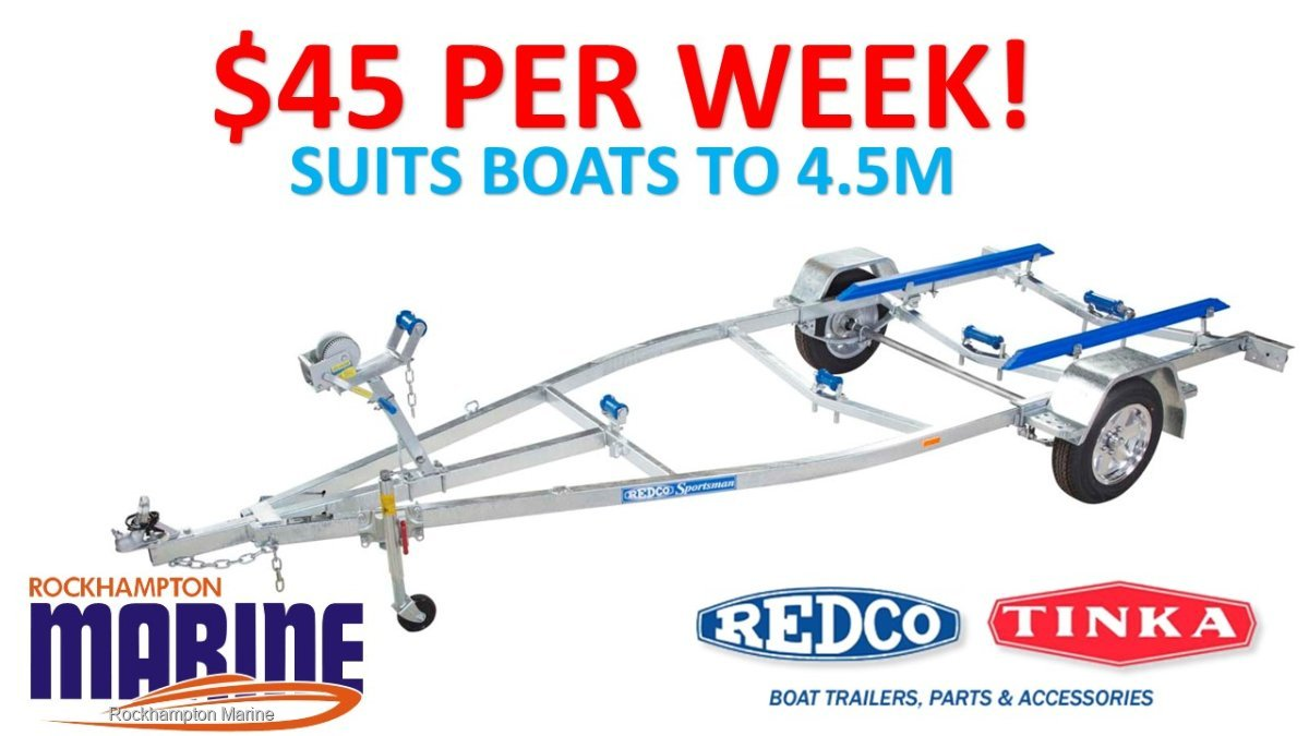 REDCO RE1313 GALVANISED BOAT TRAILER TO SUIT BOATS UP TO 4.5M!!