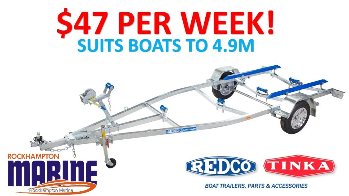 REDCO RE1513 GALVANISED BOAT TRAILER TO SUIT BOATS UP TO 4.9M!!