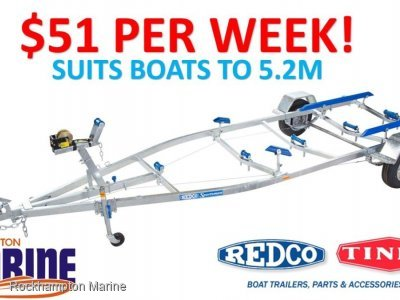 REDCO RE1613MO BRAKED GALVANISED BOAT TRAILER TO SUIT BOATS UP TO 5.2M!!