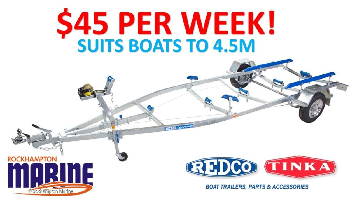 REDCO RE1313MO BRAKED GALVANISED BOAT TRAILER TO SUIT BOATS UP TO 4.5M!!