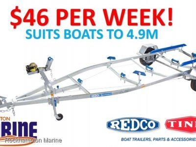 REDCO RE1513MO BRAKED GALVANISED BOAT TRAILER TO SUIT BOATS UP TO 4.9M!!