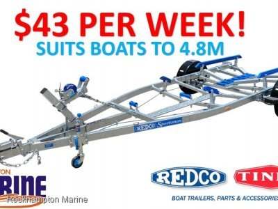 REDCO RS480MO BRAKED GALVANISED BOAT TRAILER TO SUIT BOATS UP TO 4.8M!!