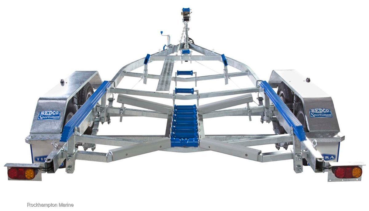 REDCO RS610TMO BRAKED GALVANISED TANDEM BOAT TRAILER TO SUIT BOATS TO 6.1M!