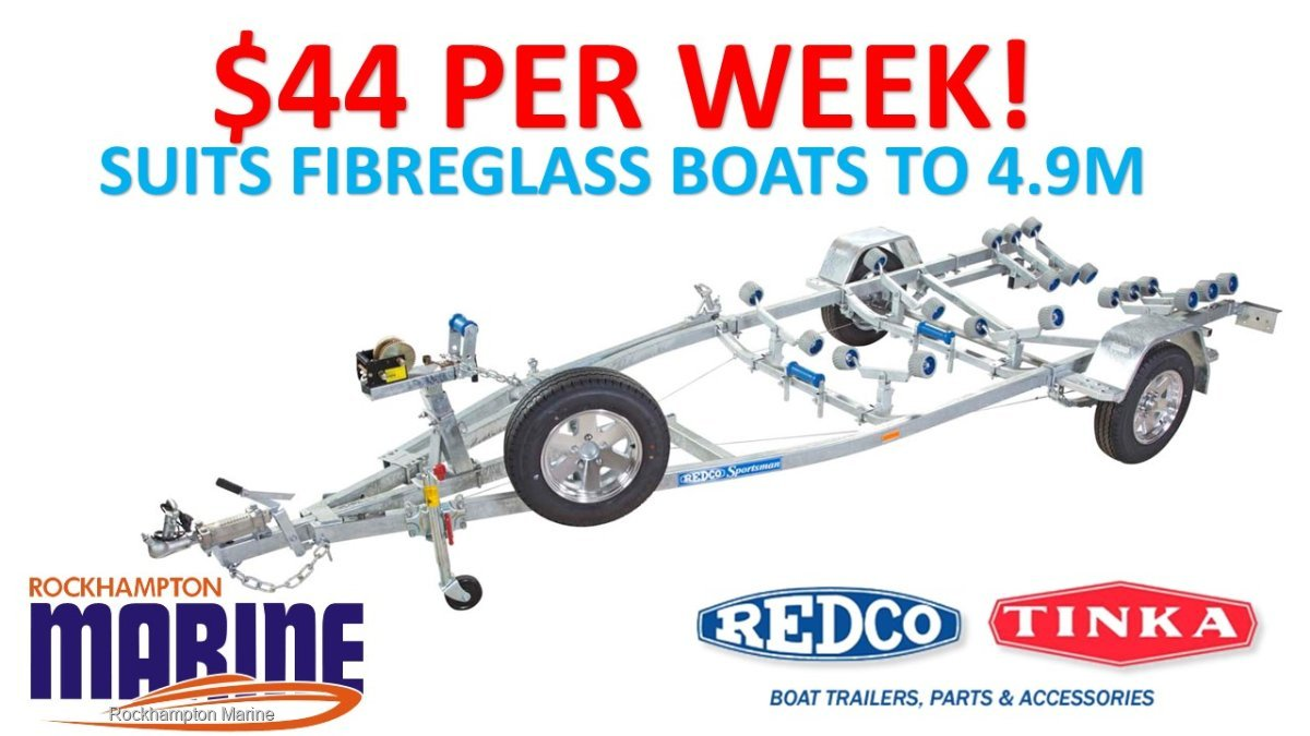 REDCO RE150MO BRAKED GALVANISED BOAT TRAILER SUITS FIBREGLASS BOATS TO 4.9M