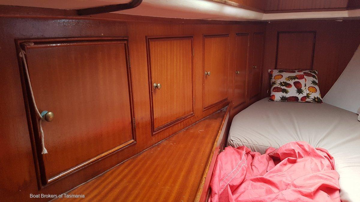 Andraya Sparkman & Stephens 36 S and S 36 steel sloop. HUGE PRICE REDUCTION! Boat Brokers of Tasmania