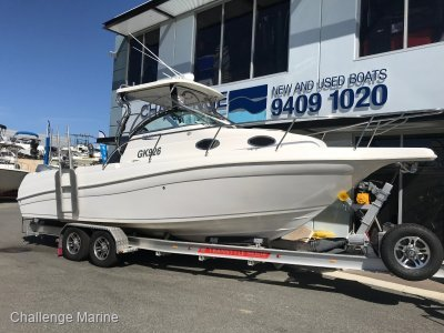 Haines Hunter 760 Patriot Twin 4 stroke power