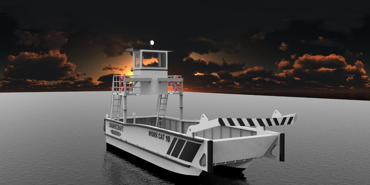 Sabrecraft Marine Work Cat 10.00 x 3.50 with A Frame