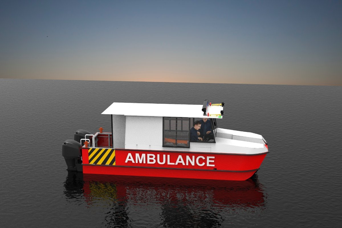 Sabrecraft Marine Ambulance Rescue Ambulance Boat AMB7400