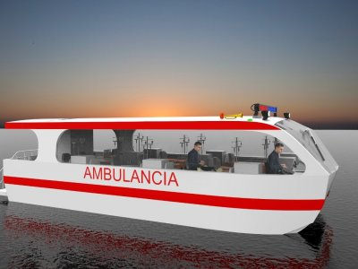 Sabrecraft Marine Ambulance Rescue Catamaran