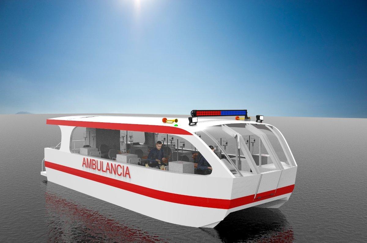 Sabrecraft Marine Ambulance Rescue Catamaran