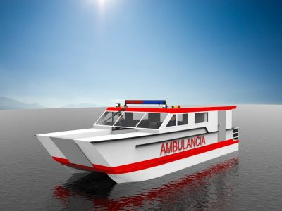 Sabrecraft Marine Ambulance Rescue Catamaran 11.00 x 3.50 Meter