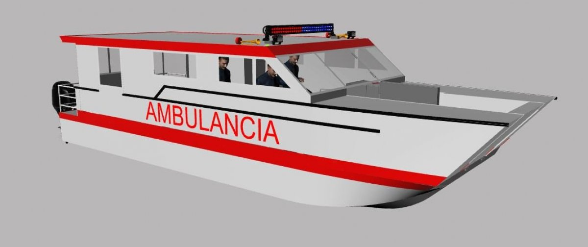 New Sabrecraft Marine Ambulance Rescue Catamaran 11.00 x 3.50 Meter