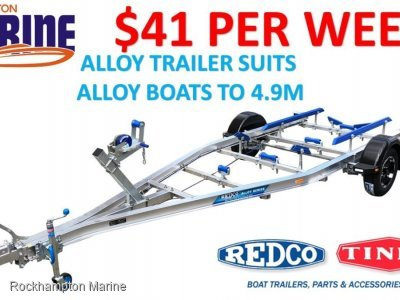 REDCO TA480MO-B ALLOY BRAKED BOAT TRAILER TO SUIT ALLOY BOATS UP TO 4.9M!!!