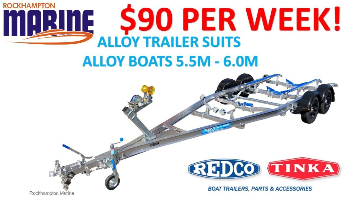 REDCO TA600TMO-B ALLOY BRAKED BOAT TRAILER TO SUIT ALLOY BOATS 5.5M-6.0M!!