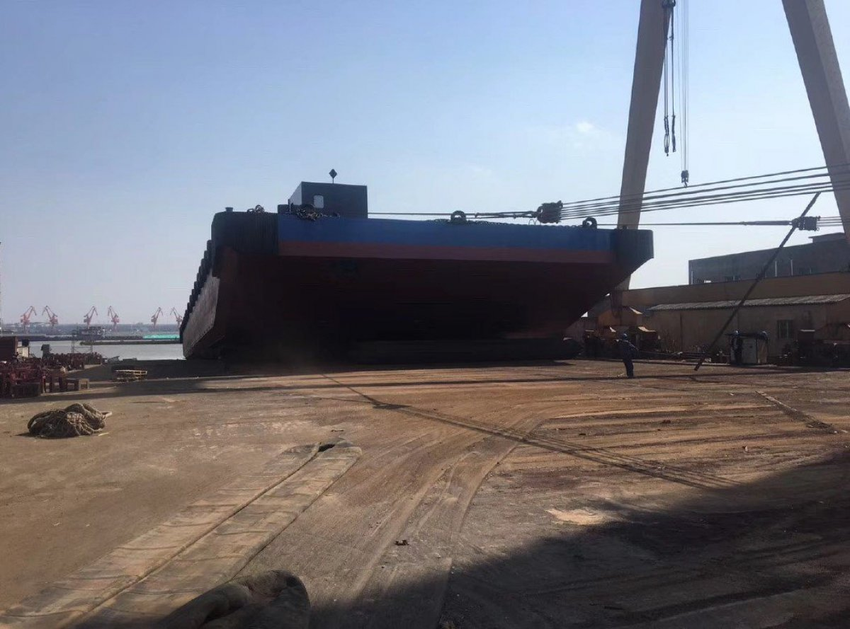 Australia Marine Services AMS Tugs and Barges Brand New barge to suit transhipment operations:New 300 on slip