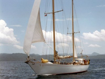 Wooden Custom Built Ketch Rigged