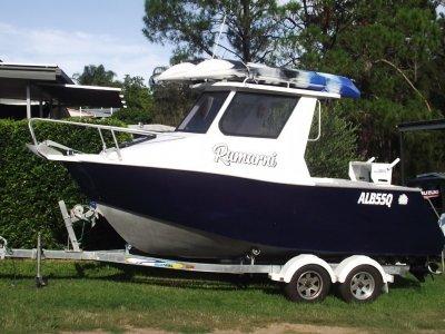 Custom Aluminium plate half cabin trailer boat