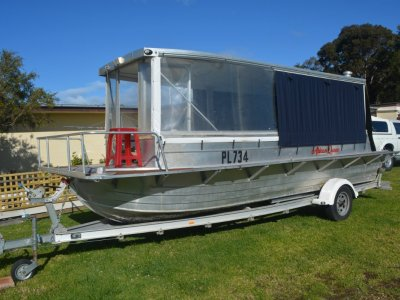 Custom Trailer Houseboat