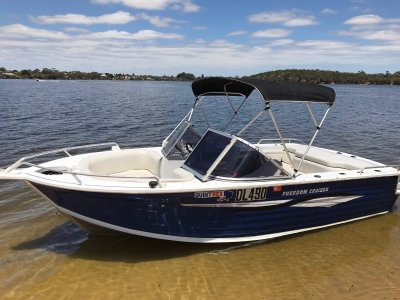 Quintrex 540 Freedom Cruiser Low hours plus extras