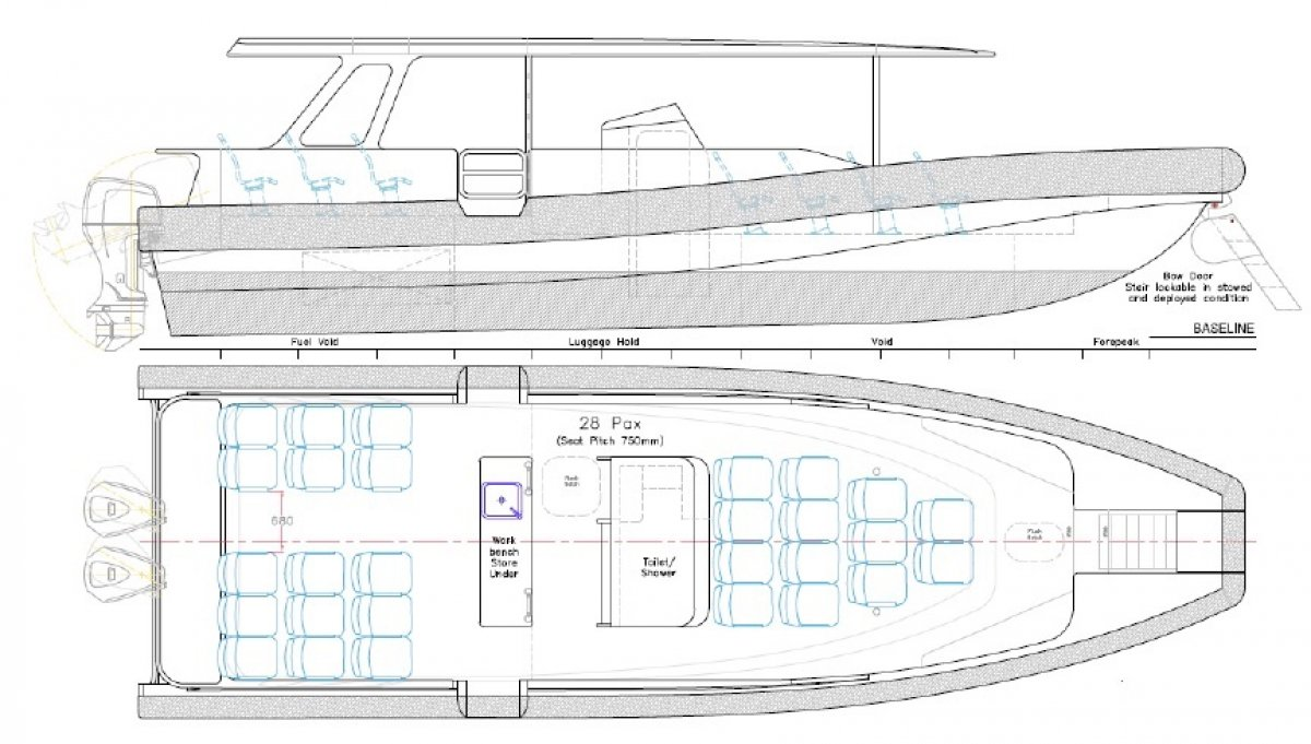 12m Open Coastal Ferry