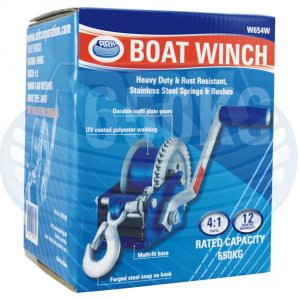 Ark boat winch - Rated capacity 650kg - Only $ 85.00