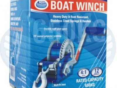 Ark boat winch - Rated capacity 650kg - Only $ 79.00