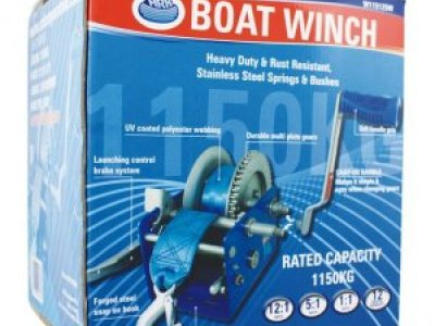 ARK EXTRA HEAVY DUTY BOAT WINCH - RATED CAPACITY 1150KG = $ 165.00