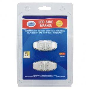 ARK LED SIDE MARKER LIGHTS - AMBER/RED LIGHT / 12V-24V = $ 25.00