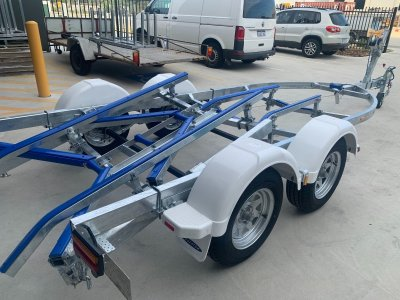 NEW Drive-on Boat trailer with pivoting rear.