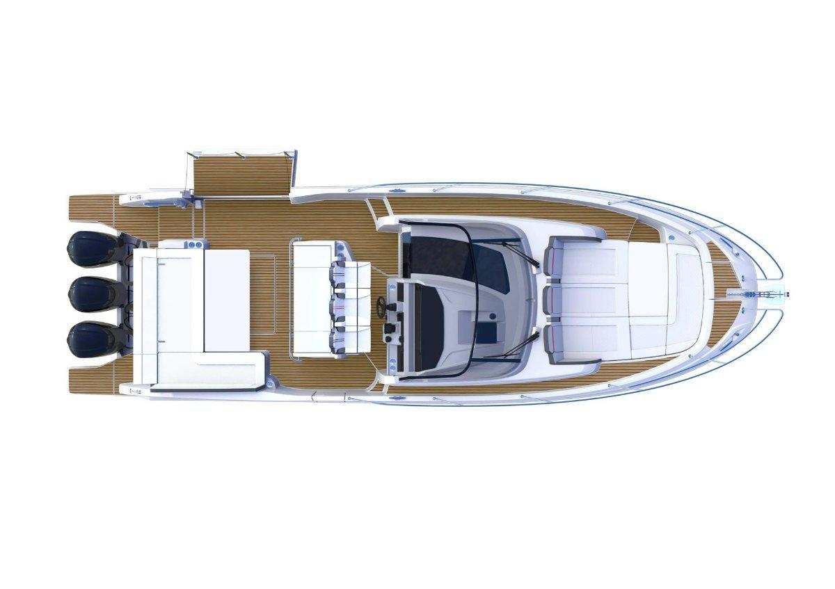 Jeanneau Cap Camarat 12.5WA 3 x 300hp