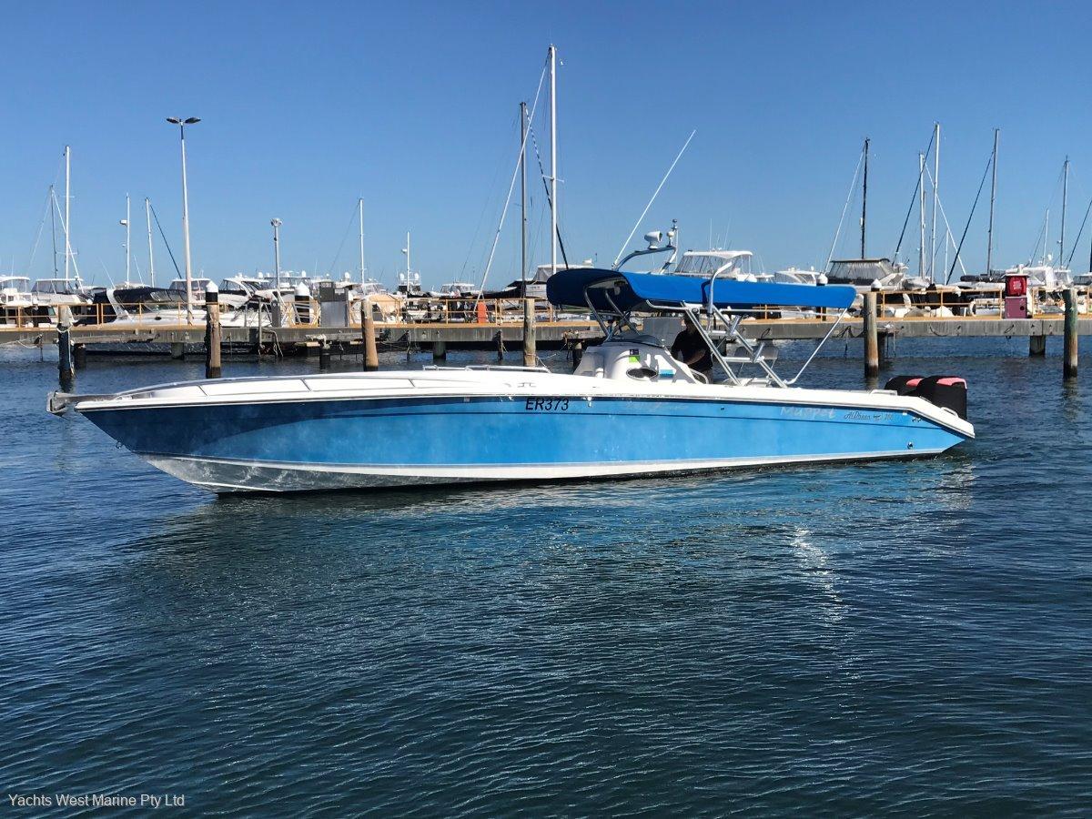 "Al Dhaen 360 SF Cuddy "" FISHING AND DIVING MACHINE "":AL DHAEN 36 by YACHTS WEST MARINE ph 9335 7788"
