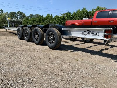 Almighty Trailers LLC 45' Transport Trailer Boat Yacht Hauler Hotshot Quad