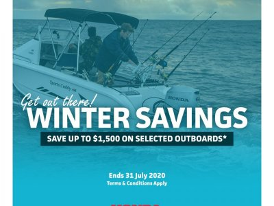 WINTER SAVINGS ON THE HONDA OUTBOARD RANGE - GET OUT THERE !