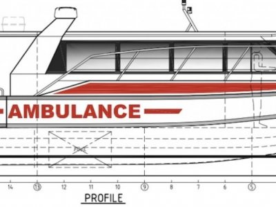 11.3m Ambulance Boat