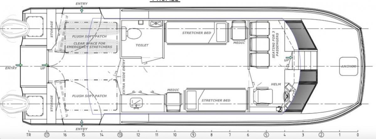 11.3m Ambulance Boat