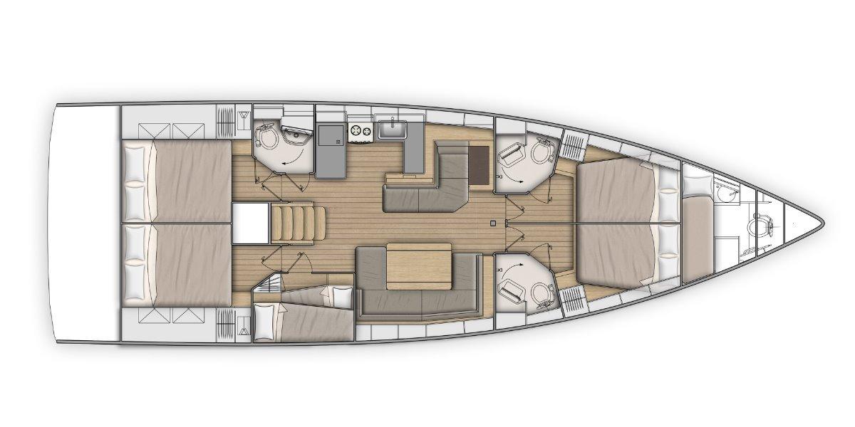 New Beneteau Oceanis 51.1
