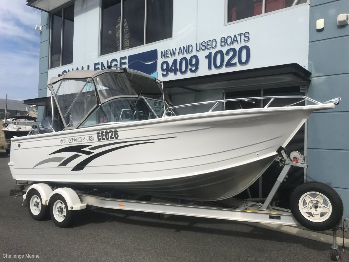 Quintrex 610 Freedom Sport 150hp Yamaha 4 stroke just 118hrs young