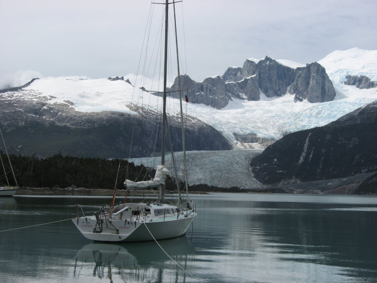 Sayer SO 40 Fast Cruising Yacht:Judys Glacier Chile