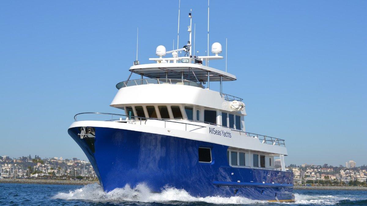 All Seas 92 Steel Motor Yacht Tri Deck Yacht
