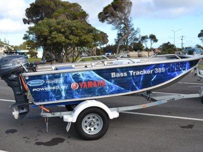 Stessco Bass Tracker 389 Powered with Yamaha 25HP electric inc trailer