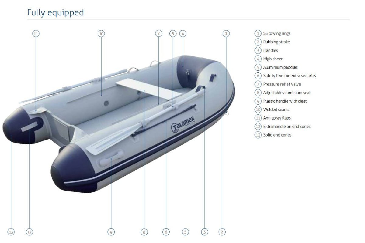 Talamex Comfortline 350 Air Floor Inflatable Boat