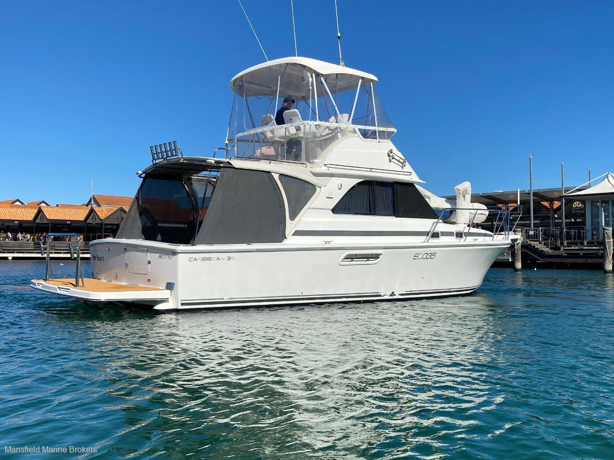 Caribbean 35 Flybridge Cruiser:BIG swim board