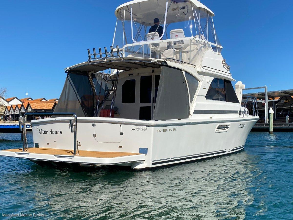 Caribbean 35 Flybridge Cruiser:The business end